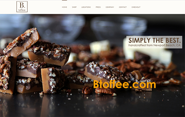 B. toffee Attivia Orange County Web Design