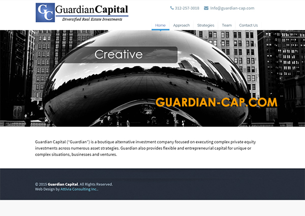 Guardian Capital Attivia Orange County Web Design