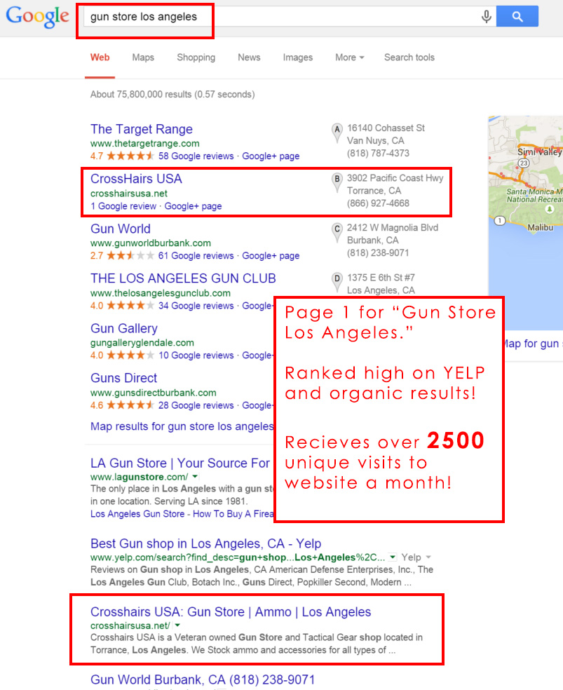 Orange County SEO Search Engine Optimization Client Results